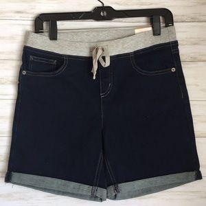 Justice plus dark denim shorts NWT